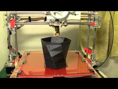 Printing a vase with FUS3D Printer - My home made 3D Printer