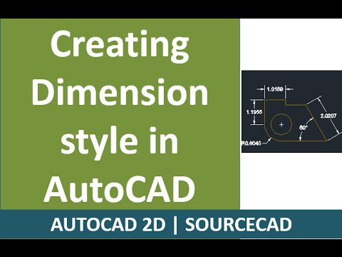 Making Dimension styles in AutoCAD