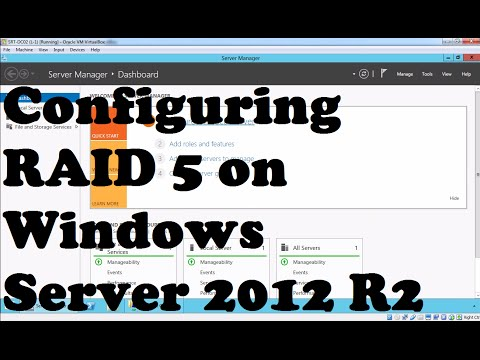 Configuring RAID 5 on Windows Server 2012 R2