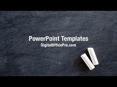 Blackboard and Chalk PowerPoint Template Backgrounds - DigitalOfficePro #00307W