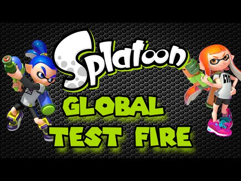 Splatoon Global Test Fire Gameplay!