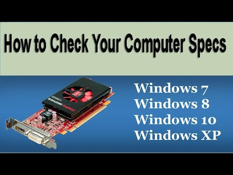 How to Check Your Computer Specs [Windows 8/7/Vista/XP]