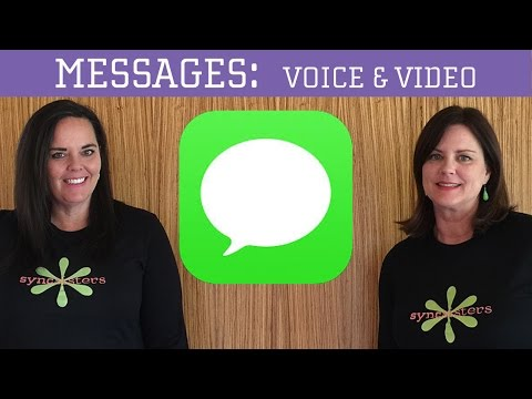 iPhone / iPad Messages - Voice, Video, and Pictures