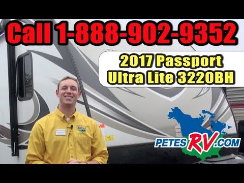 2017 Passport Ultra Lite 3220BH | Pete's RV Rough Cuts