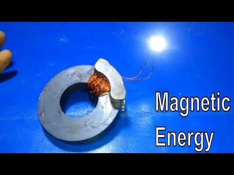 How to Make Magnetic Generator diy Lifetime Free Energy Lights Using Copper Wire Homemade