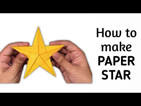 How to make simple & easy paper star - 2 | DIY Paper Craft Ideas, Videos & Tutorials.