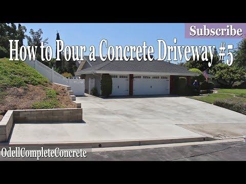 How to Pour a Concrete Driveway #5 DIY