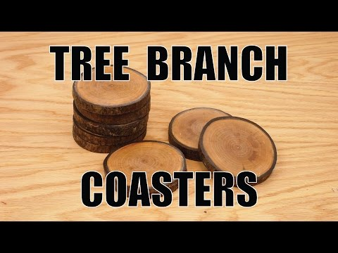 How To Make Coasters from a Tree Branch