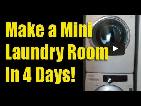 Make a Mini Laundry Room in 4 Days!
