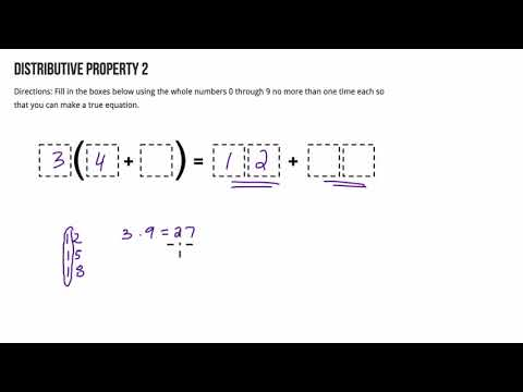 Open Middle Distributive Property 2