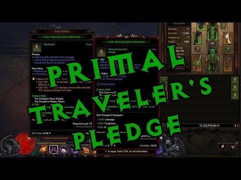 Diablo III Season 11 - Crafting a Primal Ancient Traveler's Pledge