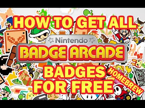 How to get all badges on Nintendo Badge Arcade FOR FREE using Homebrew