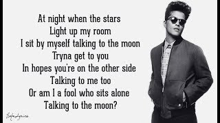Bruno Mars - Talking To The Moon (Lyrics) 🎵