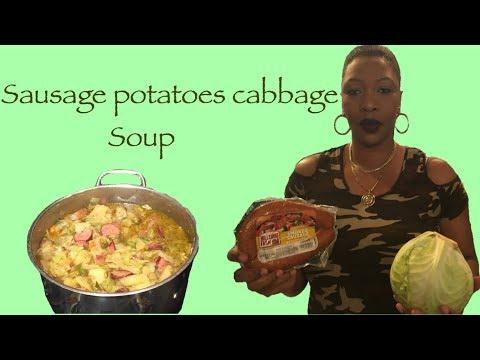 How to make sausage,potato,cabbage soup