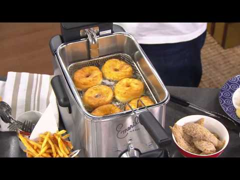 Emeril by T-Fal 3.3L Stainless Steel Deep Fryer with Oil Filtration with Dan Wheeler