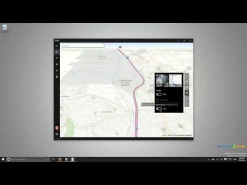 Maps and Location Services in Windows 10