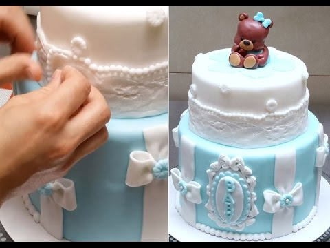 BABY SHOWER Teddy Bear CAKE - How To Make by Cakes StepbyStep