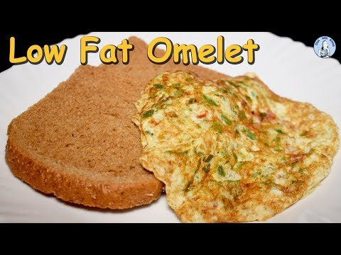 Low Fat Vegetable Omelet Recipe | Low Calorie Egg White Omelet | Healthy Breakfast Recipe