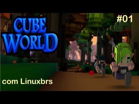 Gameplay PC - Cube World #01 - Primeiros passos - Conhecendo o jogo - PT-BR