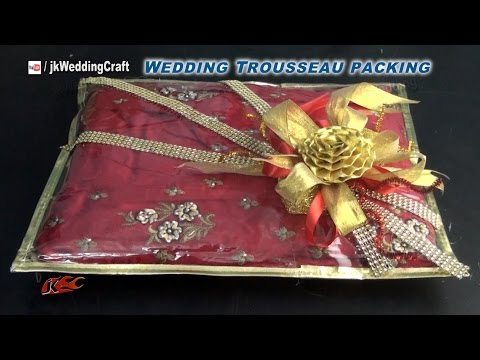 Creative gift packing ideas for wedding trousseau | How to pack Indian Dress | JK Wedding Craft 038