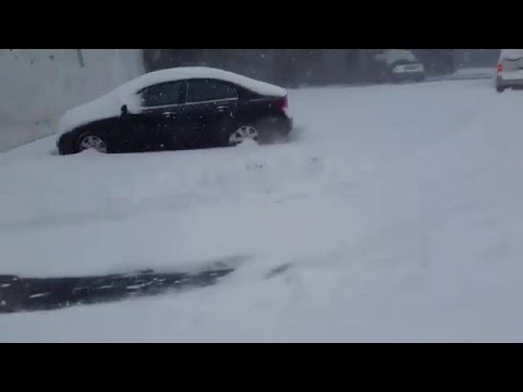 Front wheel drive Ford getting through snow