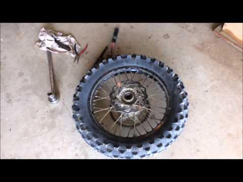 KTM Rear Wheel Bearing Replacement Dirtbike