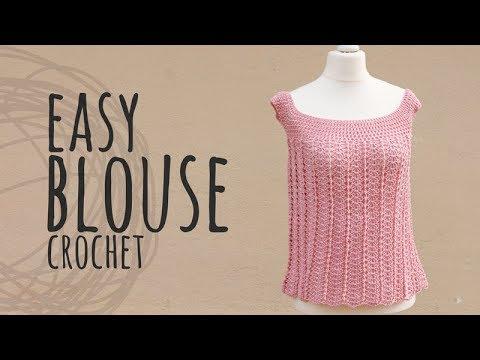 Tutorial Easy Blouse Crochet