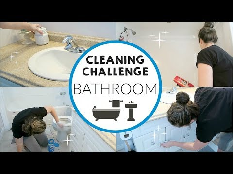 Cleaning   Challenge - Clean with Me: Bathroom