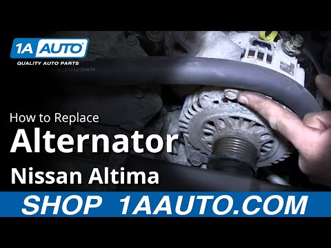 How To Install Replace Alternator 2.5L 2002-06 Nissan Altima Sentra