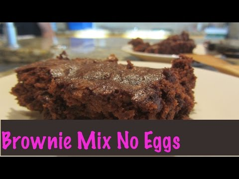 Brownie Box Mix No Eggs Eggless Veganized with Flax Egg