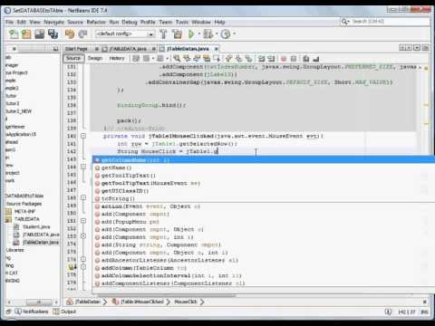 set a selected jTable record into a TextField - JAVA EASY no mouseclik event