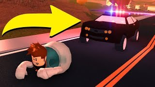 GETTING PULLED OVER IN ROBLOX JAILBREAK..