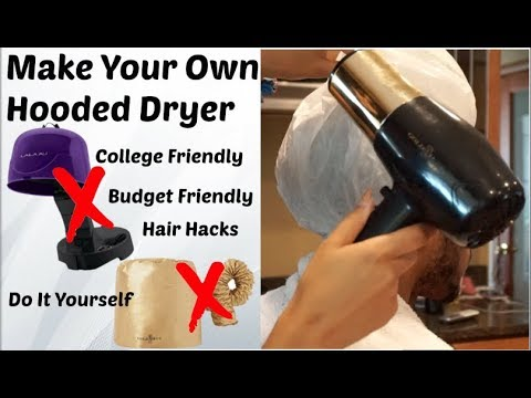 DIY Hooded Dryer for Deep Conditioning | Natural Hair Hacks