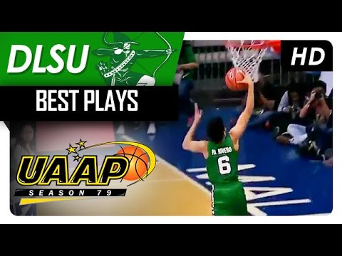 Rivero steals, breaks away for a one-handed flush   DLSU   Best Plays   UAAP 79 - 2016