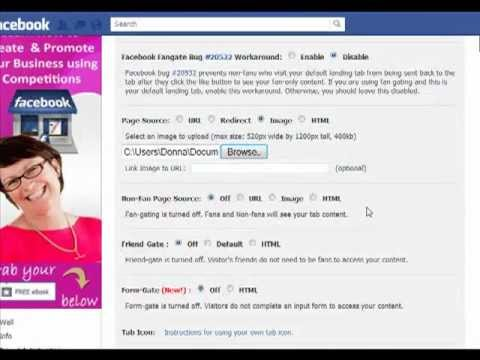 How to Create a Landing Tab in Facebook using Woobox
