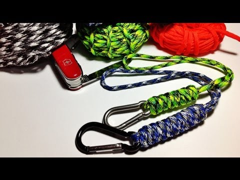 How to make / tie wrist paracord lanyard with the Snake Knot ( Tutorial )