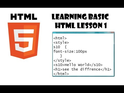 learn html lesson 1, font size, and tables.