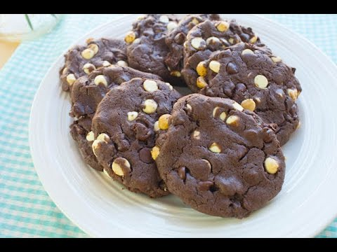 Double Chocolate Cake Mix Cookies | Simply Bakings