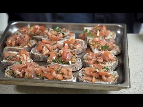 How to make mealworm bruschetta