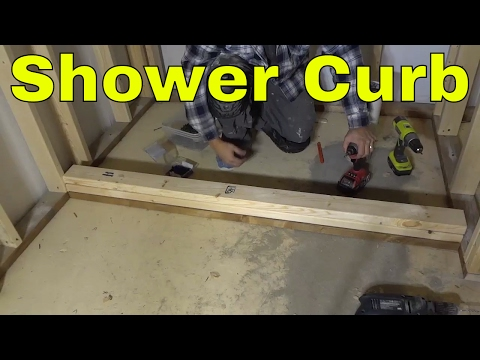 How To Build A Shower Curb-DIY