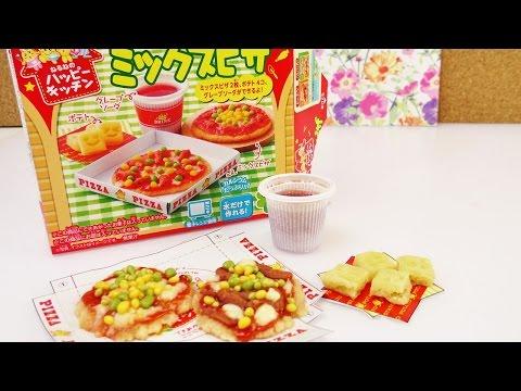 Kracie Popin' cookin' Pizza Mix Demo   Japanische Süßigkeiten Pizza selber machen DIY