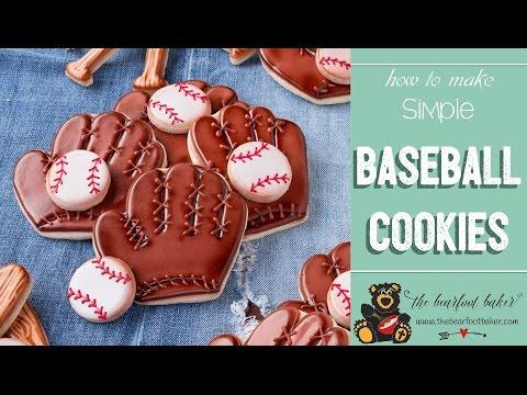 How to Make Baseball Cookies | The Bearfoot Baker