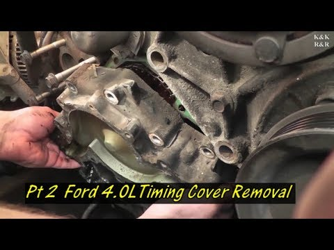 1996 Ford Explorer 4.0L Timing Covers Gasket Pt. 2 Timing Cover Removal