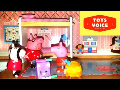 Fun Play with Peppa Pig & KidKraft Chelsea Doll Cottage with Shopkin Review  | Toys Voice