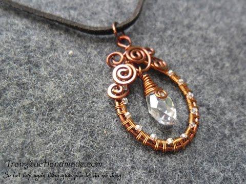 Wire copper pendant - Wire craft Ideas 95