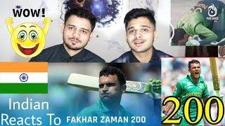 Indian Reacts To Fakhar Zaman Double Century 210 Against Zimbabwe.