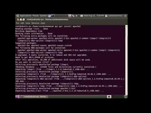 How to configure Apache server on ubuntu