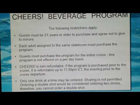 Drink Package On Board Carnival Cruise | CHEERS! 2017