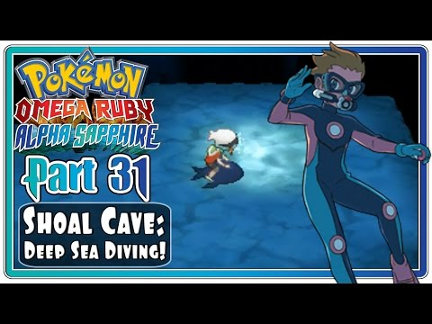 Pokemon Omega Ruby and Alpha Sapphire - Part 31: Shoal Cave | Deep Sea Diving!  (FaceCam)