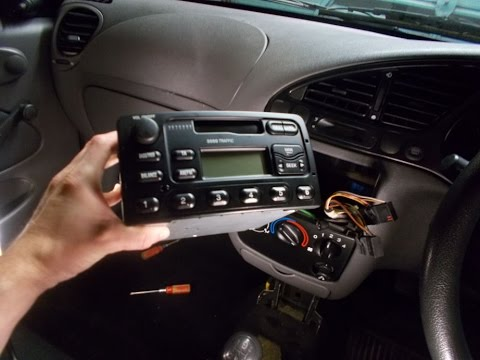 Ford Fiesta Stereo Removal